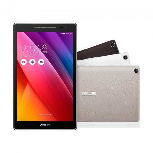 ZenPad 8 and the various colors available to buy.