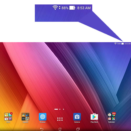 This is what your display looks like while your Z Stylus is NOT active with the tablet.